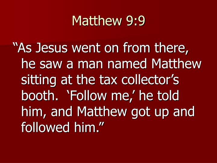 Matthew 9:9
