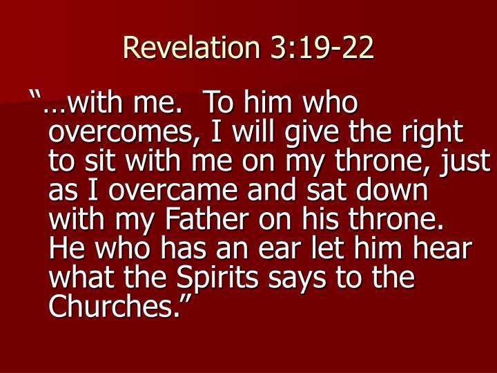 Revelation 3:19-22
