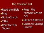 the christian list