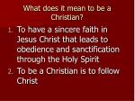 what does it mean to be a christian5