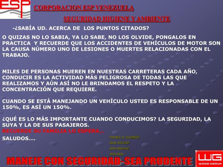-¿SABÍA UD. ACERCA DE  LOS PUNTOS CITADOS?