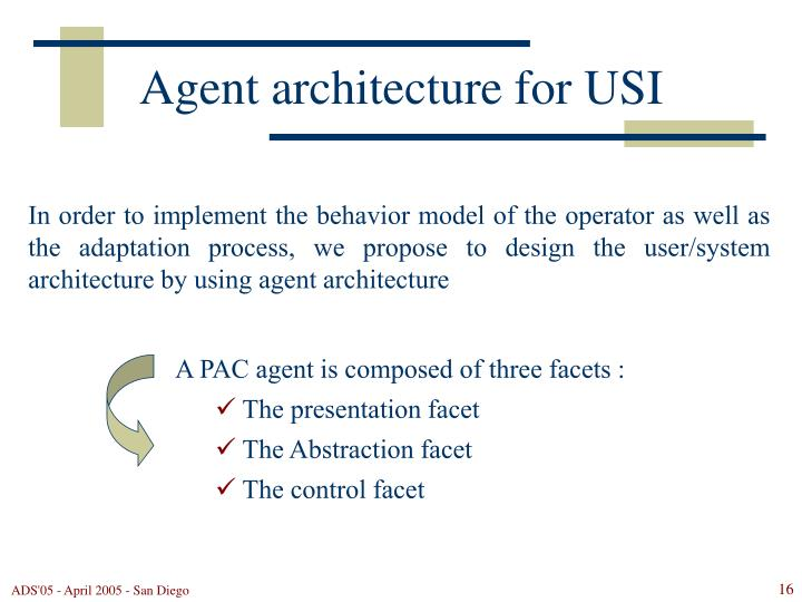 Agent architecture for USI
