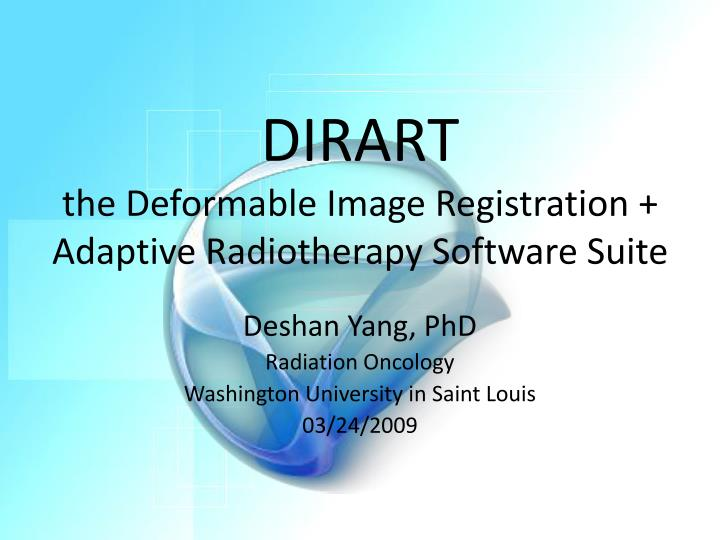 Dirart the deformable image registration adaptive radiotherapy software suite