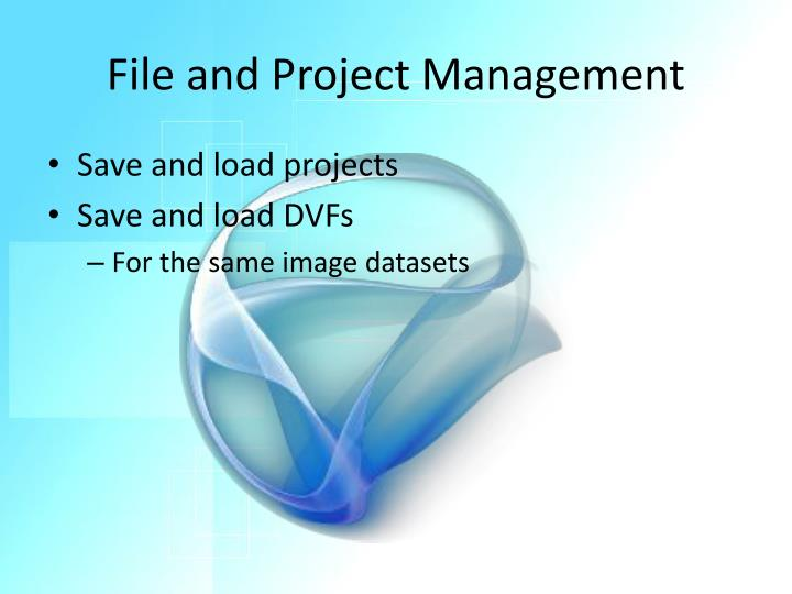File and Project Management