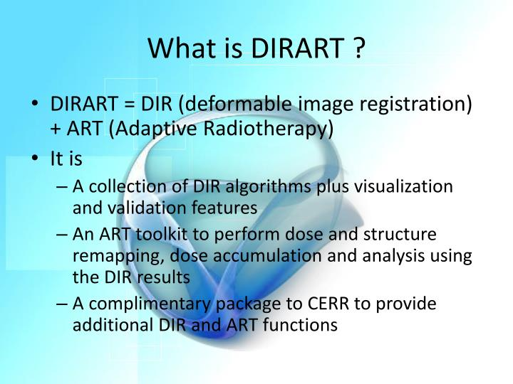 What is DIRART ?