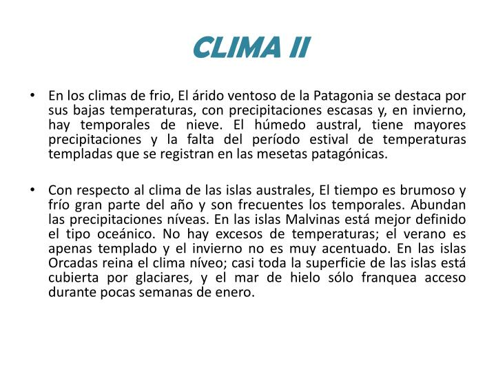 CLIMA II