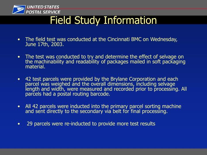 Field Study Information