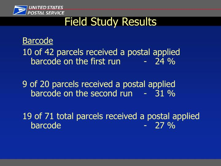 Field Study Results