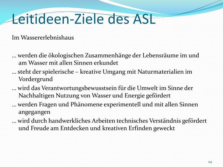 Leitideen-Ziele des ASL