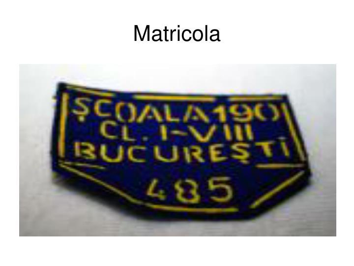 Matricola