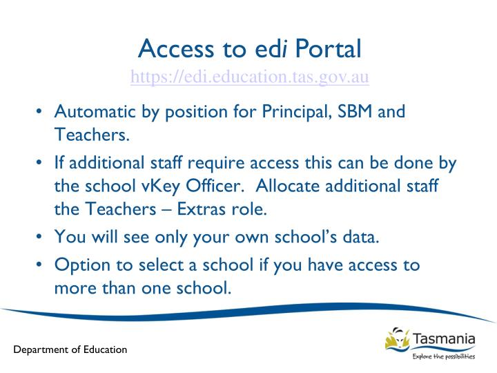 Access to ed