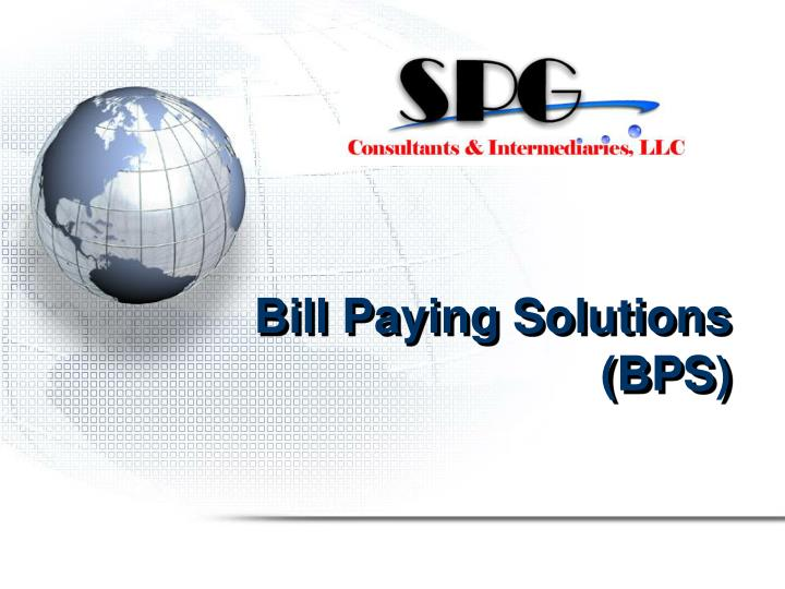 Bill Paying Solutions