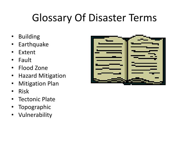 Glossary Of Disaster Terms