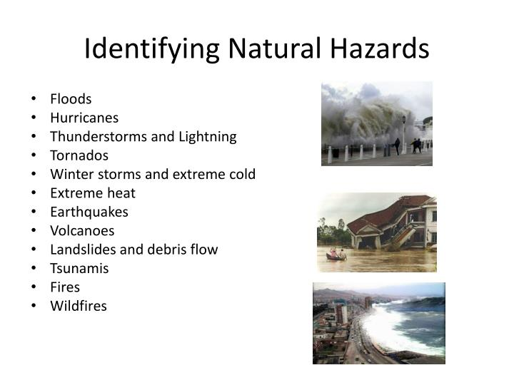Identifying Natural Hazards