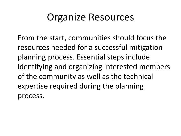 Organize Resources