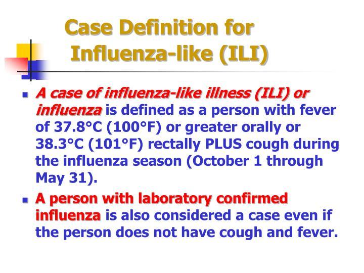 Case Definition for