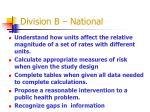 division b national