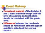 event makeup