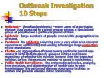 outbreak investigation 10 steps