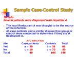sample case control study