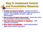 step 9 implement control and preventative measures