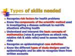 types of skills needed