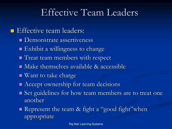 Effective Team Leaders