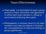 team effectiveness
