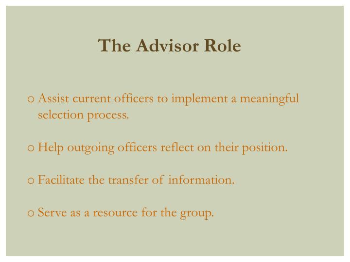 The Advisor Role