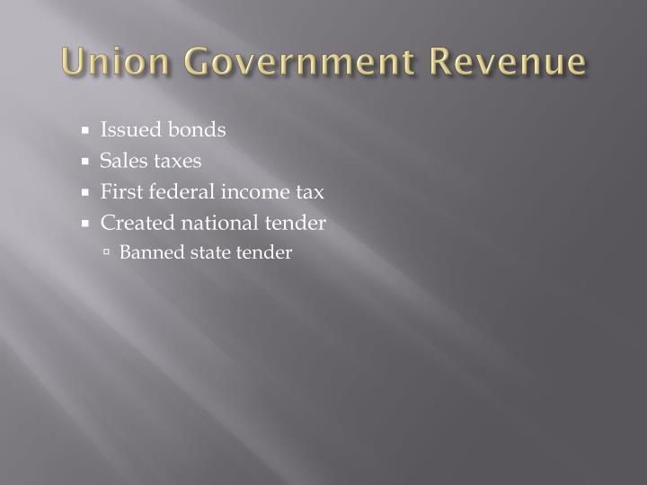 Union Government Revenue