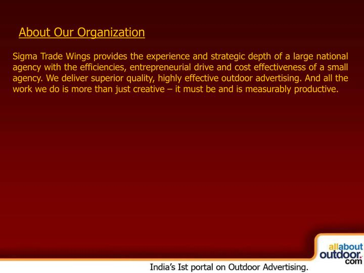 About Our Organization