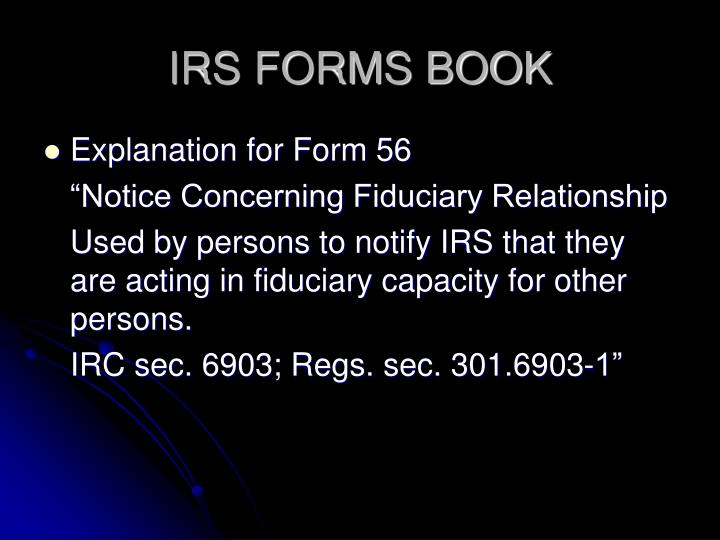 IRS FORMS BOOK