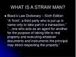 what is a straw man