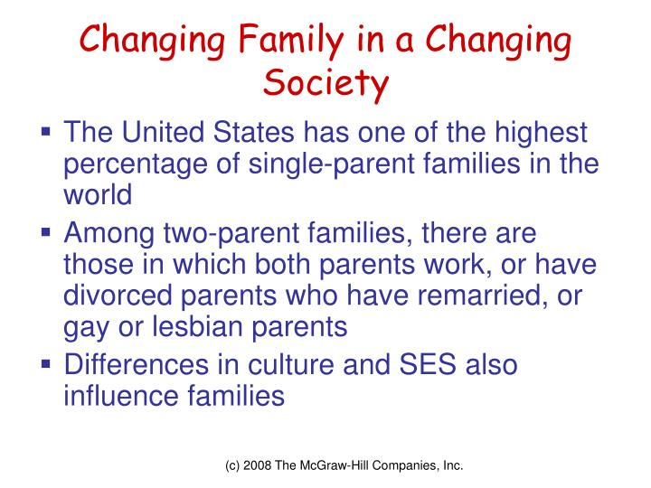 Changing Family in a Changing Society