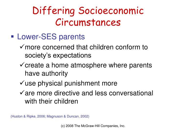 Differing Socioeconomic Circumstances