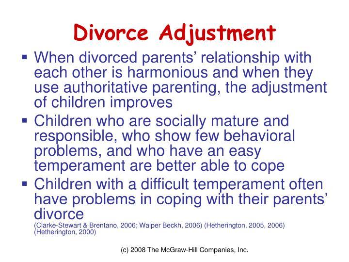 Divorce Adjustment