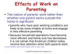 effects of work on parenting