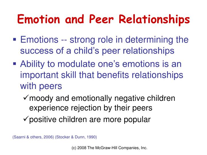 Emotion and Peer Relationships