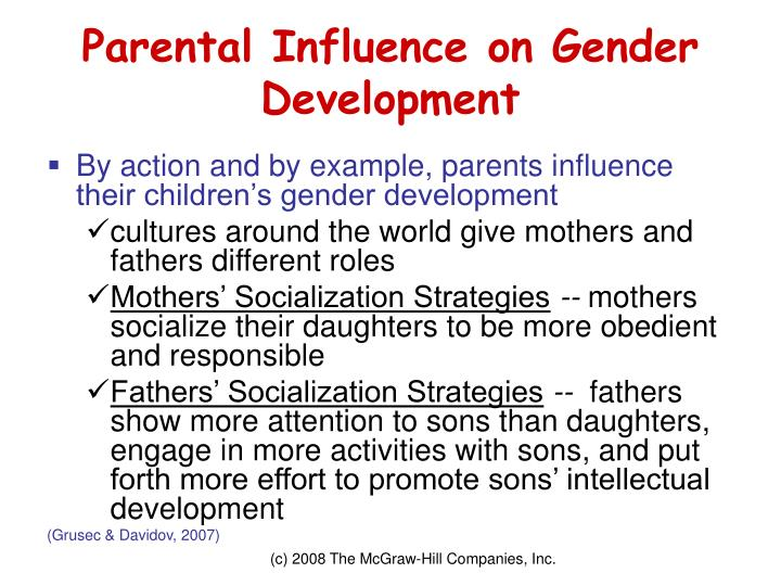 Parental Influence on Gender Development