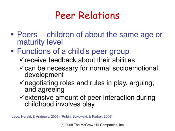 Peer Relations