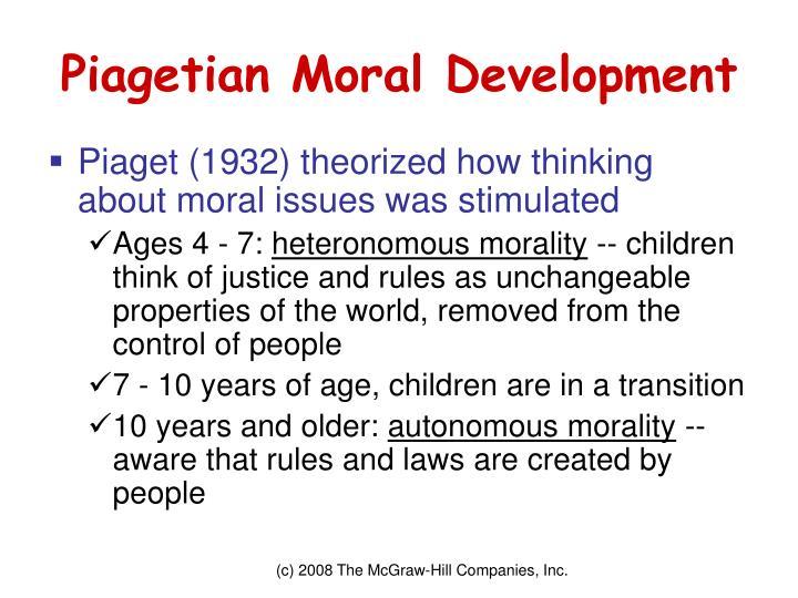 Piagetian Moral Development
