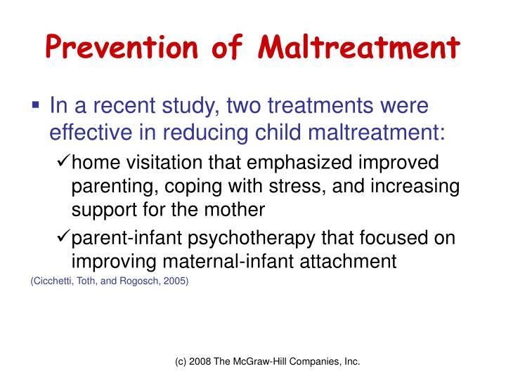Prevention of Maltreatment