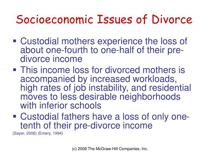 Socioeconomic Issues of Divorce