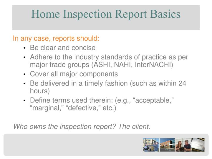 Home Inspection Report Basics