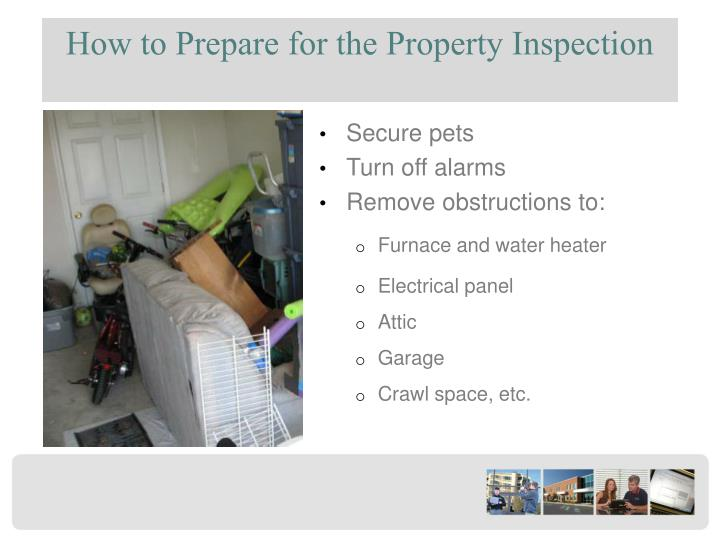 How to Prepare for the Property Inspection