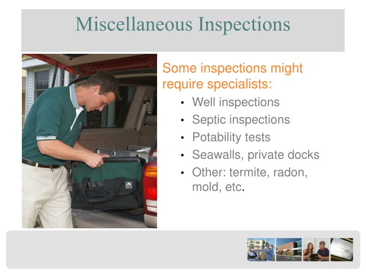 Miscellaneous Inspections