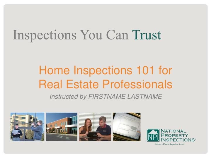 Home Inspections 101 for