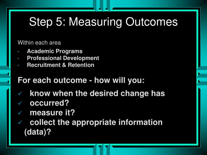 Step 5: Measuring Outcomes