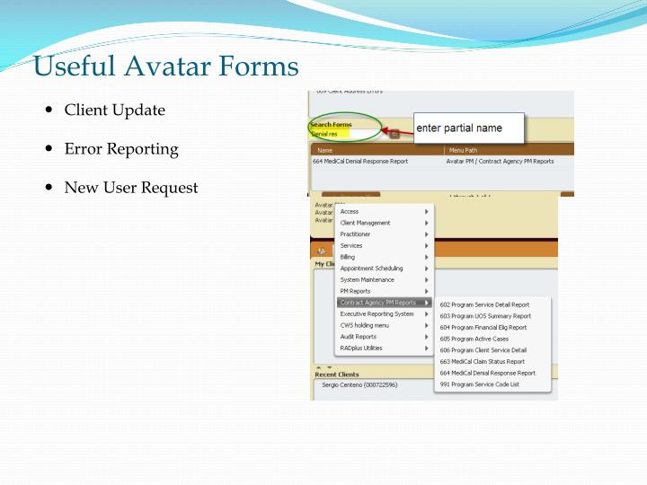 Useful Avatar Forms