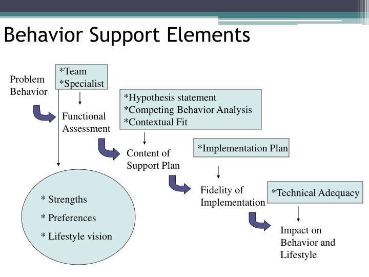 Behavior Support Elements